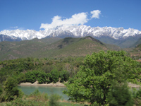 a view of yulong snow mt. from the black dragon pool, Lijiang